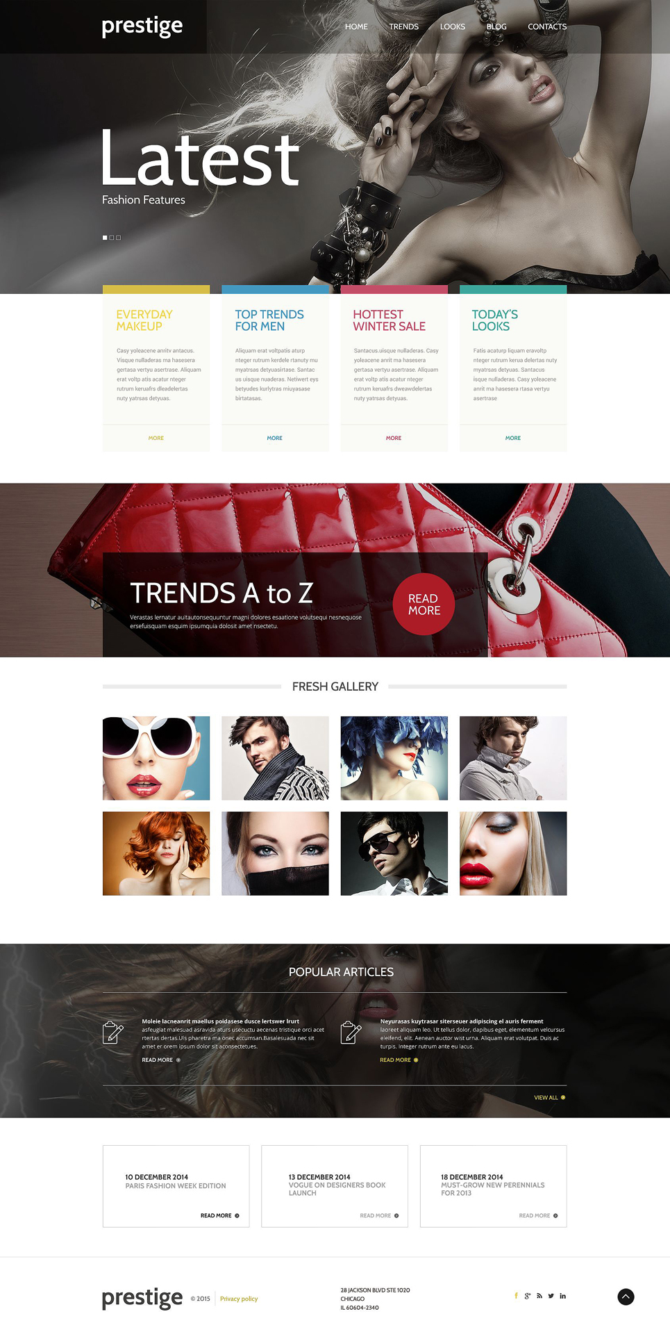 Best fashion wordpress theme 16